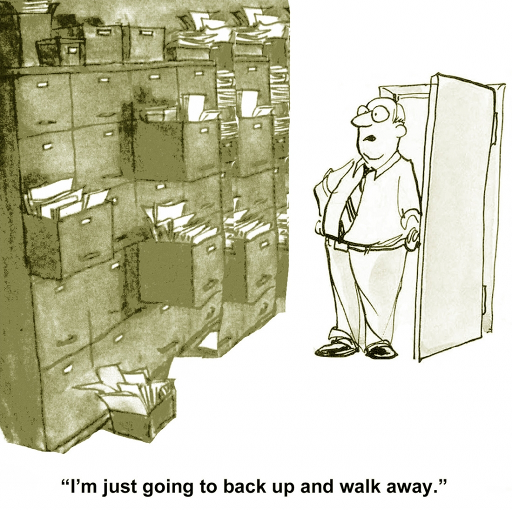 File Room Decisions in a Cartoon