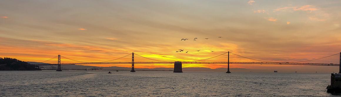 Dawn over the San Francisco Bay Bridge